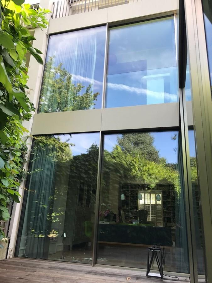 Erker Anbauen anbau reihenhausvilla frankfurt metall und glas