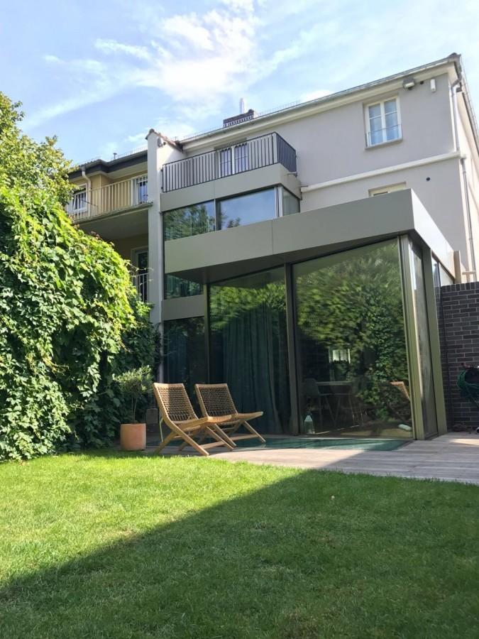 Anbau Erker anbau reihenhausvilla frankfurt metall und glas