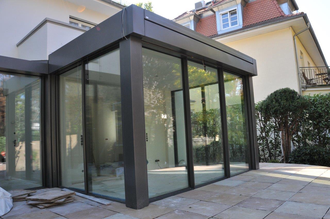 Frankfurt kernsanierung eines exklusiven doppelhauses metall und glas - Anbau wintergarten ...