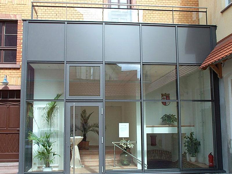 Eingangstüren glas  Eingangstüren/Portale - METALL UND GLAS